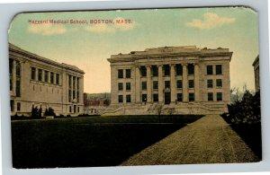 Boston MA, Harvard Medical School, Vintage Massachusetts Postcard