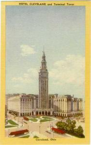 Hotel Cleveland & Terminal Tower Clevland Ohio OH
