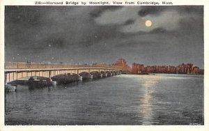 Harvard Bridge by moonlight in Cambridge, Massachusetts View from Cambridge.