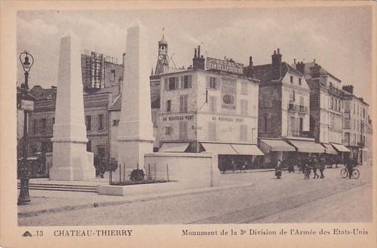 France Chateau Thierry Monument de la 3e Division de l'Armee des Etats-Unis