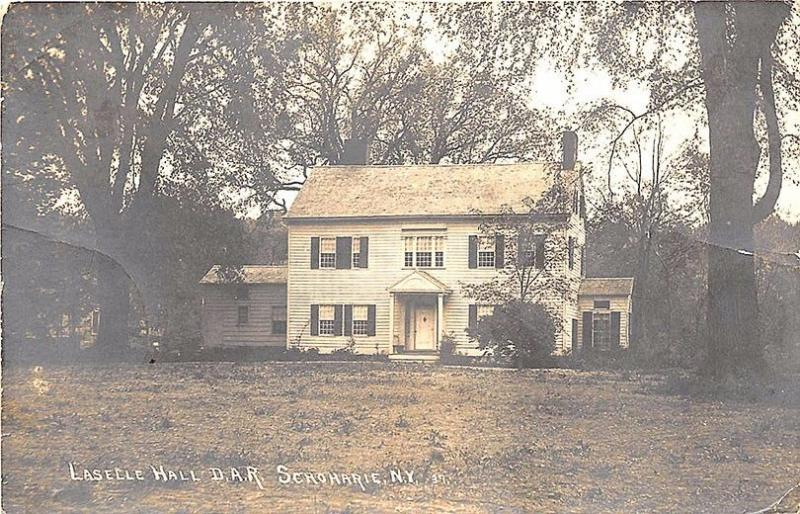 Schoharie NY Laselle Hall D. A. R. Eastern Illustrating Publisher RPPC Postcard