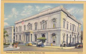 Peabody Institute Mount Vernon Square Baltimore Maryland