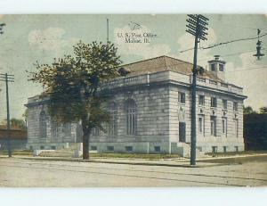 Divided Back POST OFFICE SCENE Moline Illinois IL hs1783
