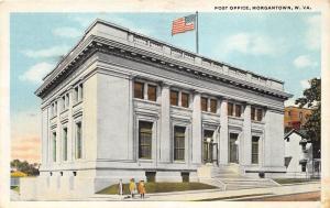 Morgantown West Virginia~US Post Office~Little Girls Posing~1920 Postcard
