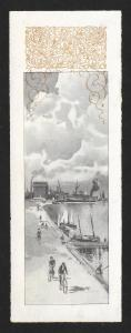 VICTORIAN TRADE CARD Ramblers Bicycles for '96 City Scenes Bookmark