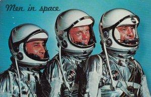 MEN IN SPACE,Astronauts Grissom, Glenn, Shepard, 50-60s