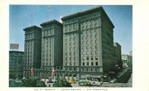 San Francisco, CA, The St. Francis Hotel, Union Square, Vintage Postcard g9345