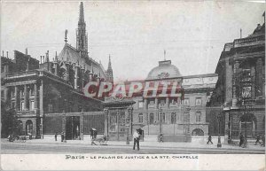 Postcard Old Paris Palace of Justice and the Ste Chapelle