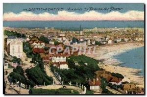 Old Postcard Sainte Adresse Phares View Plateau Taking