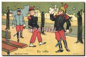 Old Postcard Militaria City