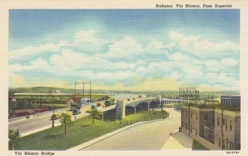 HAVANA , Cuba , 1930-40s ; Via Blanca , Paso Superior