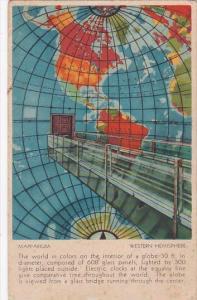 Mapparium Western Hemisphere The Christian Science Publishing House Boston Ma...