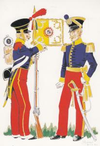 Svizzeri Regimento Estero Di Lines 1848 Italy War Uniform Postcard