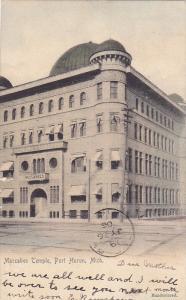 PORT HURON, Michigan; Maccabee Temple, PU-1906