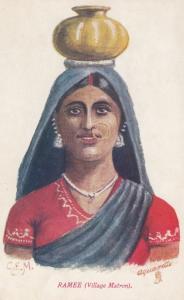 Indian Girl , RAMEE (Village Matron) , India , 00-10s ; TUCK 9051