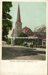 hawaii, HONOLULU, Central Union Church (1910s)