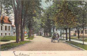 F36/ Clyde Ohio Postcard 1908 West Buckeye Street Homes