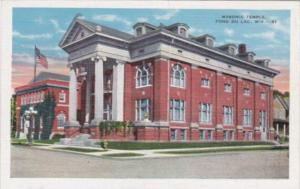Wisconsin Fond du Lac Masonic Temple