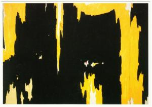 1957-D No. 1 by Clyfford Still Abstract Expressionist Art Postcard