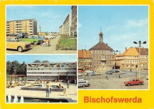 Bischofswerda Neubaugebiet, Kulturhaus Bertolt Brecht Markt Brunnen Auto