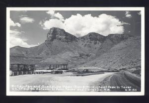 RPPC CARLSBAD NEW MEXICO & EL PASO TEXAS HIGHEST POINT REAL PHOTO POSTCARD