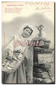 Old Postcard Fancy Sardines Specialties country of Sands