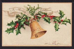 Merry Christmas Bells Clapsaddle Post Card 5263
