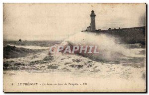 Thrown treport it one day of storm Lighthouse Lighthouse - Old Postcard