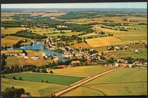 Prince Edward Island Aerial View of HUNTER RIVER Village - Chrome