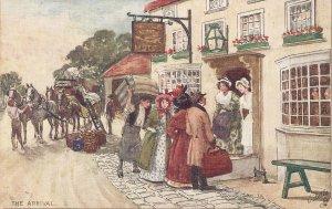 A.Ludovici. The Arrival. Horses Tuck Oilette Coachin Scenes Ser.     PC #