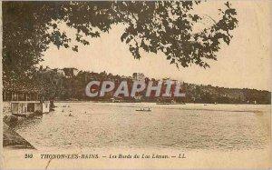 Old Postcard Thonon les Bains The Banks of Lake Geneva