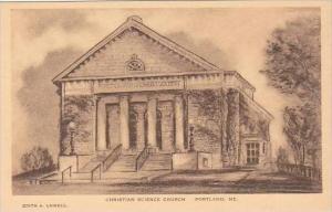 Maine Portland Christian Science Church Albertype