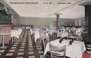 Ohio Ashtabula The Swallows Restaurant Interior