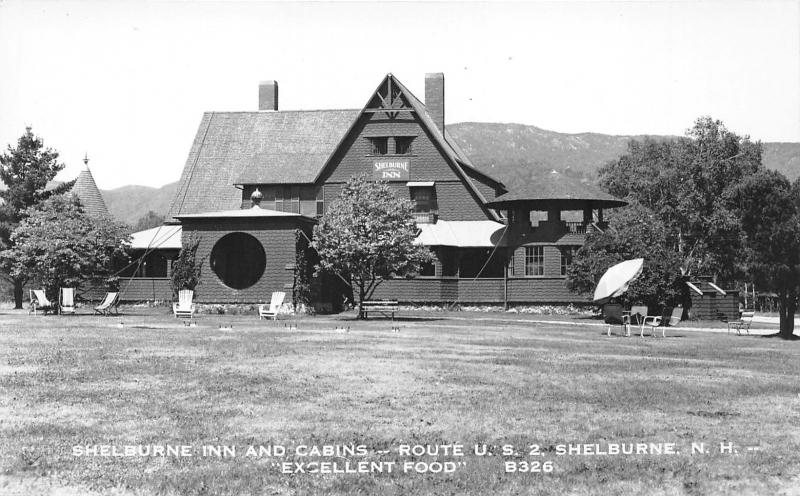 Shelburne New Hampshire~Shelburne Inn & Cabins~RoutUS 2~1950s RPPC