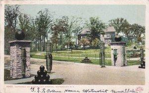 New York  Watervliet Entrance To Watervlerat Arsenal 1906