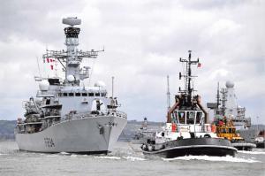 Postcard HMS Iron Duke Type 23 Frigate Royal Navy, Artisan Radar MOD 83A
