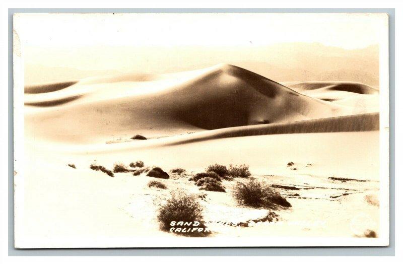 c1930 RPPC Sand Dunes Death Valley California Frasher Real Photo Postcard pc575