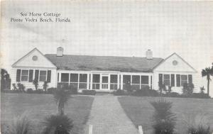 B2/ Ponte Vedra Beach Florida Fl Postcard Sea Horse Cottage c1940s
