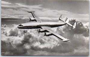 Vintage LUFTHANSA Airlines RPPC Real Photo Postcard Super G Constellation