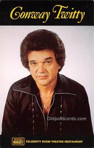 Conway Twitty, Celebrity Room Theater Restaurant Movie Star Actor Actress Fil...