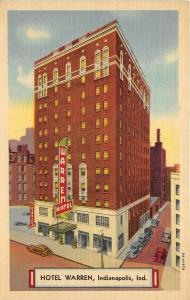 Indianapolis Indiana 1940s Postcard Hotel Warren