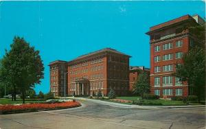 Wadsworth Kansas~Flower-Lined Circular Drice @ Veterans Hospital~1962 Postcard