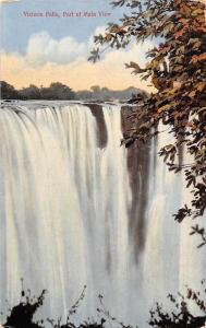 Zambia Victoria Falls, Part of Main View 1914