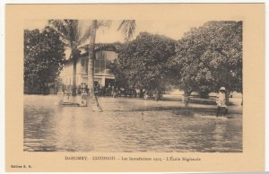 Benin; Dahomey, 1925 Cotonou Floods, The Regional School PPC, By ER, Unused