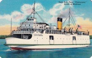 MACKINAC, Michigan, 1950-1960s; State Auto Ferry Cheboygan Straits Of Mackinac