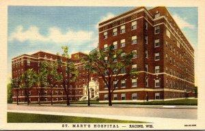Wisconsin Racine St Mary's Hospital Curteich