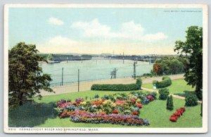Springfield MA~Detroit Publishing #8619~Connecticut River Railroad Bridge~c1910