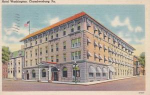 Pennsylvania Chambersburg Hotel Washington 1951