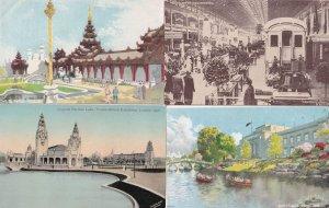 The Palace Of Engineering Burmese Australian 4x Empire Exhibition Postcard s