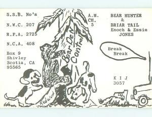 dogs - QSL HAM RADIO CARD in Shivley Nova Scotia NS Canada t1242